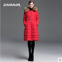 2016 new hot winter Thicken Warm woman Down jacket Coat Parkas Outerwear Hooded Raccoon Fur collar long plus size 2XXL Luxury