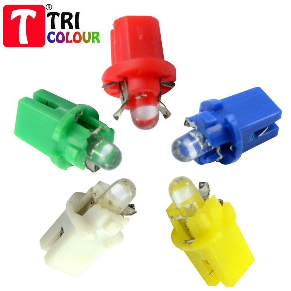 Truck Light Bulbs: TRICOLOUR 10pcs B8.5D Dip LED Car Auto Truck Indicator Instrument Dashboard Light  Bulb DC12V,Lighting
