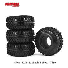 SURPASS HOBBY 4pcs 3021 2.2Inch Rubber Tire Tyre Set for 1/10 Axial SCX10 RR10 Wraith 90056 90045 RC Rock Crawler Truck injora 4pcs short course truck rubber tire