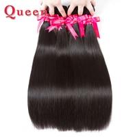 Queen Hair Products Peruvian Straight Hair Bundles 1PC 100% Remy Human Hair Weave Weaving Natural Hair Can Buy 3 or 4 Bundles