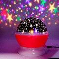 Neuheit LED Rotierenden Stern Projektor Beleuchtung Mond Starry Sky Kinder Baby Nacht Schlaf Licht Batterie Notfall Projektion Lampe|Leuchtendes Spielzeug|Spielzeug und Hobbys -