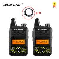 הדרך רדיו uhf BF-T1 Baofeng טוקי רדיו לילדים UHF רדיו ניידת שני הדרך Ham CB רדיו USB מטען מיני BF T1 Baofeng 2pcs WALKY טוקי (3)