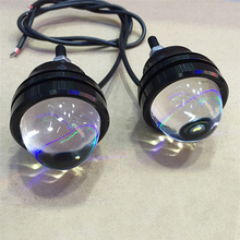 Pair Led strobe car Motorcycle ealge eye flasher lamp DRL Daytime running flashing fog light Reverse Backup Brake warning lights