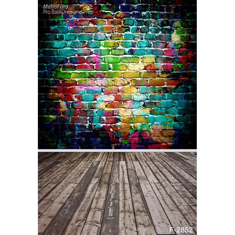 Vinyl Custom Photography Backdrops Prop Graffiti&Wall theme Digital Printed Photo Studio Background Graffiti  F-2852 2m 3m vinyl custom children photography backdrops prop photo studio background jlt 8306