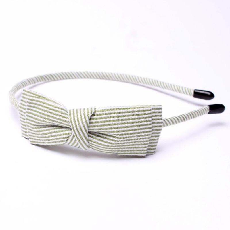 New Stripe Fabric Scrunchy Kvinnor Girls Turban Headband Hair Head - Kläder tillbehör - Foto 6