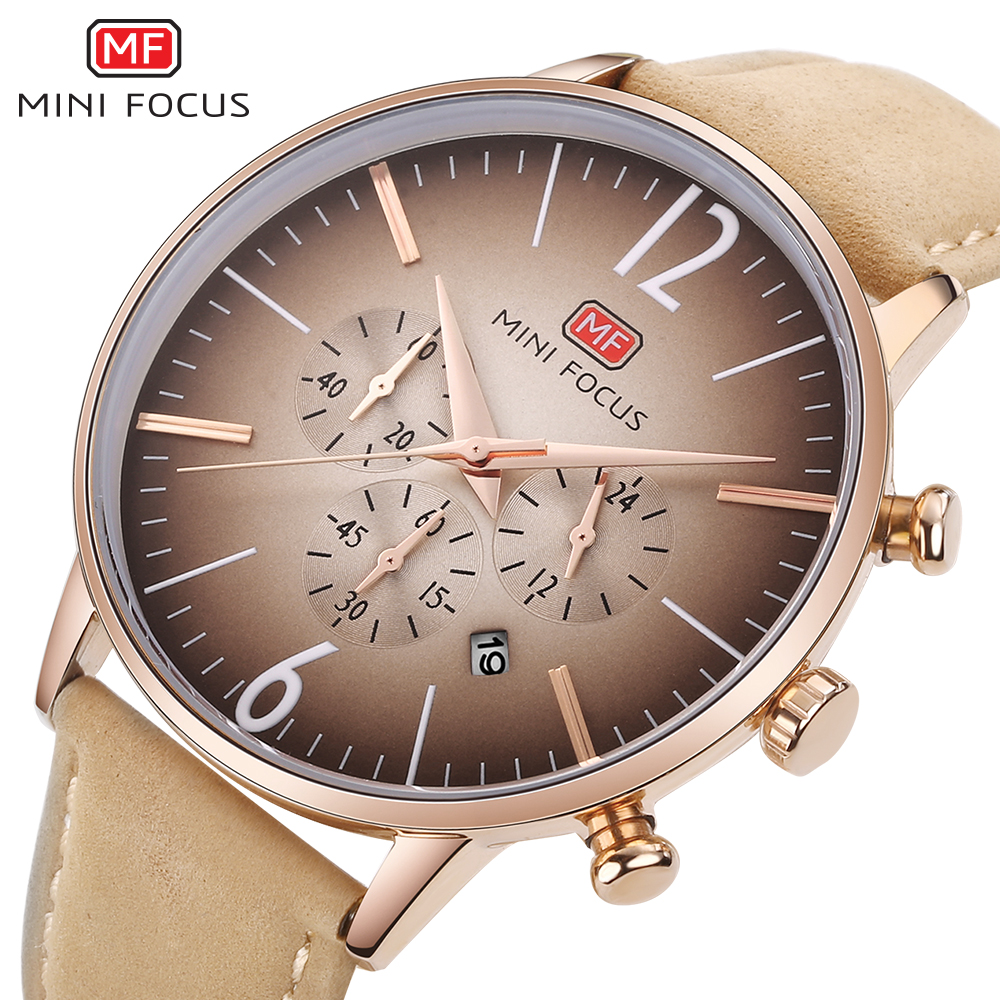 MINIFOCUS Men's Watches Analog Quartz Ultrathin 30m Waterproof Male Clock Leather Strap Wristwatch Luxury Men Fashion Watch 2018 степлер ручной rapid r34 proline 6 14мм 140 5000067