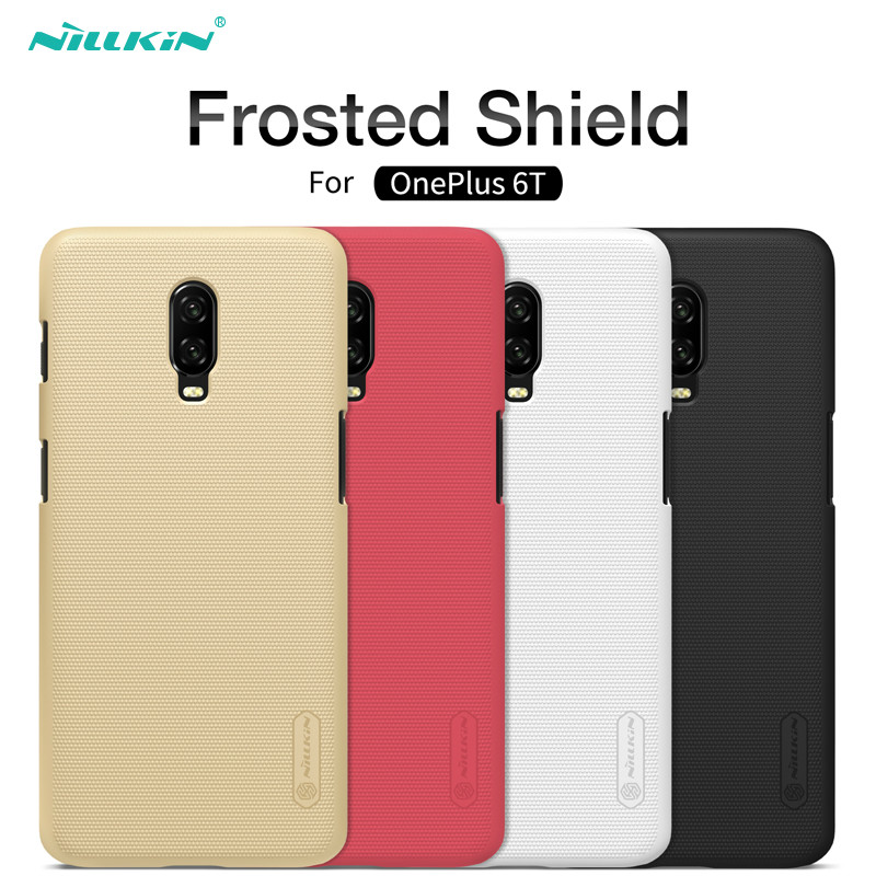 <font><b>Oneplus</b></font> 6T Case One plus 6T Cover NILLKIN Frosted Shield Matte PC Back Cover Phone Case For <font><b>Oneplus</b></font> 6t <font><b>A6013</b></font> 1+6T & Phone Holder image