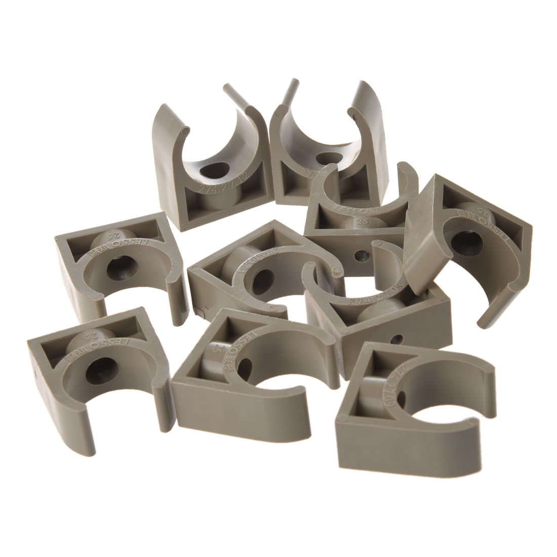 10 Pcs 25mm Diameter PPR Water Supply Pipe Clamps Clips Fittings