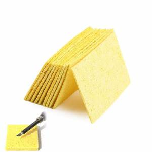 10 Pcs Yellow High Temperature Resistant Cleaning Sponge for Electric Soldering Iron Stand Welding Accessories kit
