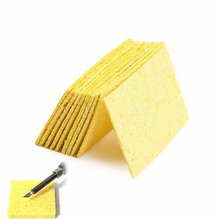 Cleaning-Sponge Soldering-Iron-Stand Welding-Accessories Yellow Electric High-Temperature-Resistant