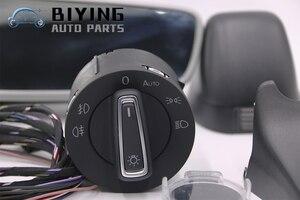 Image 2 - Auto headlight switch+Rain Light Wiper Sensor Dimming Rear View Mirror For VW Golf 7 MK7