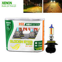 XENCN HB4 9006 12V 51W 2300K Super Xenon Yellow Headlights Fog Lamps Halogen Car Head Light 30% More Light 75m beam New 2pcs