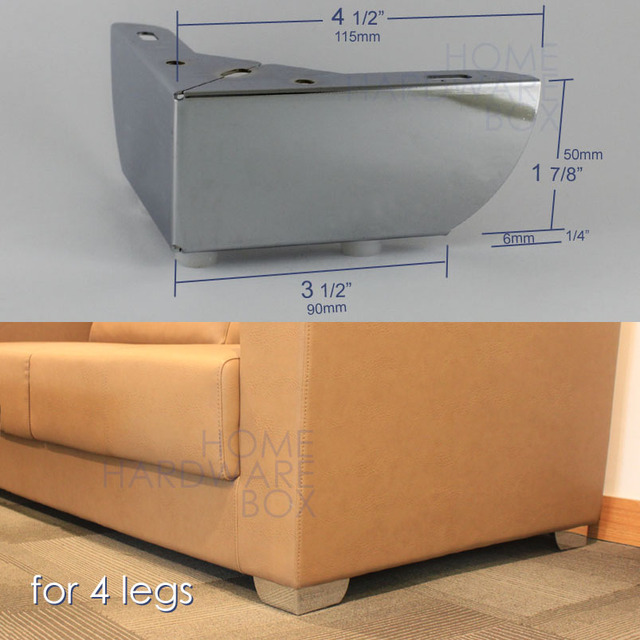 Furniture Cabinet Metal Sofa Legs Table Feet Stainless Steel Chrome - 7 foot stainless steel table
