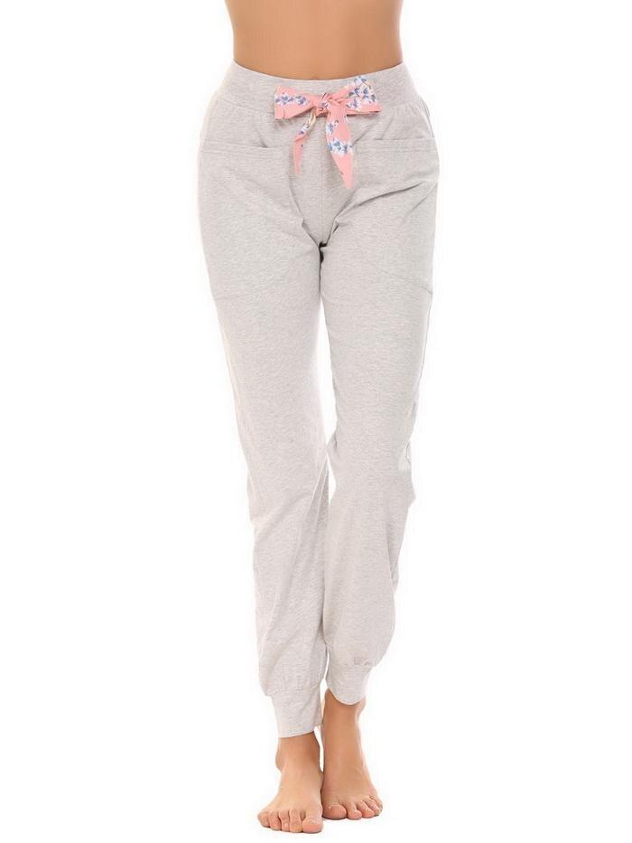 ANGVNS Elastic Bottom Waist Women Love Cute Long Lounge Pajama Pants Women