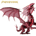 2016 Limited Edition Piececool 3D Metal Puzzle Dragon Flame P071-RS DIY 3D Metal Puzzle Kits Laser Cut Models Jigsaw Toys