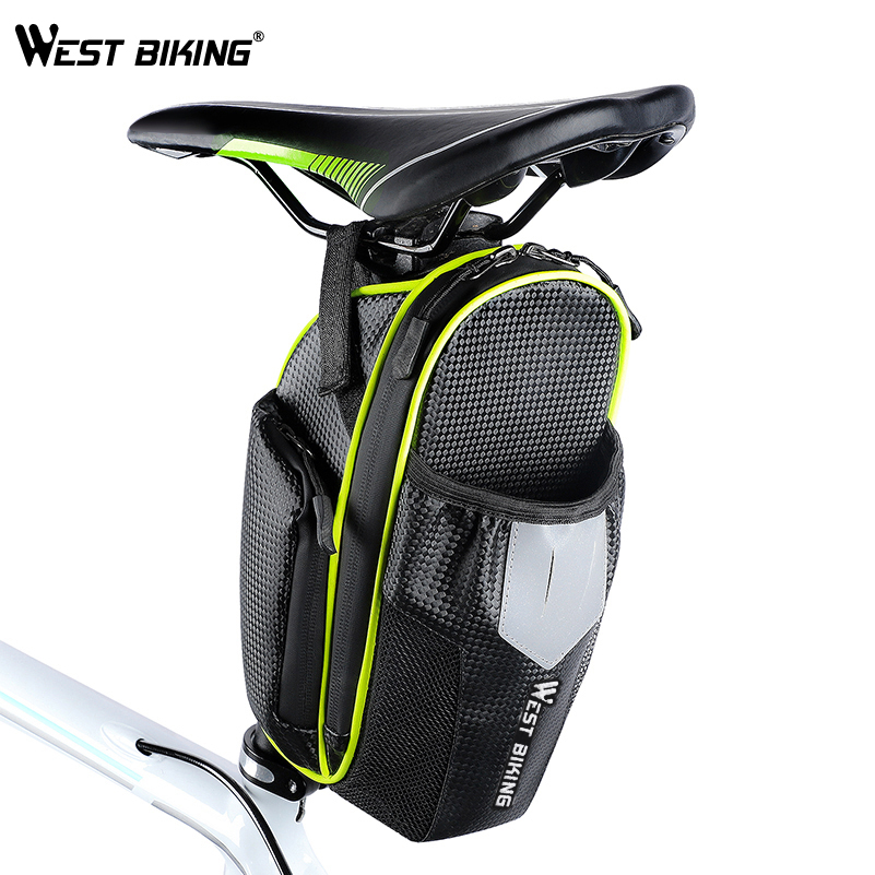Wheelup Double Water Bottle Saddle Bag Road Bike Seat Rear Tail Pouch Bag USA