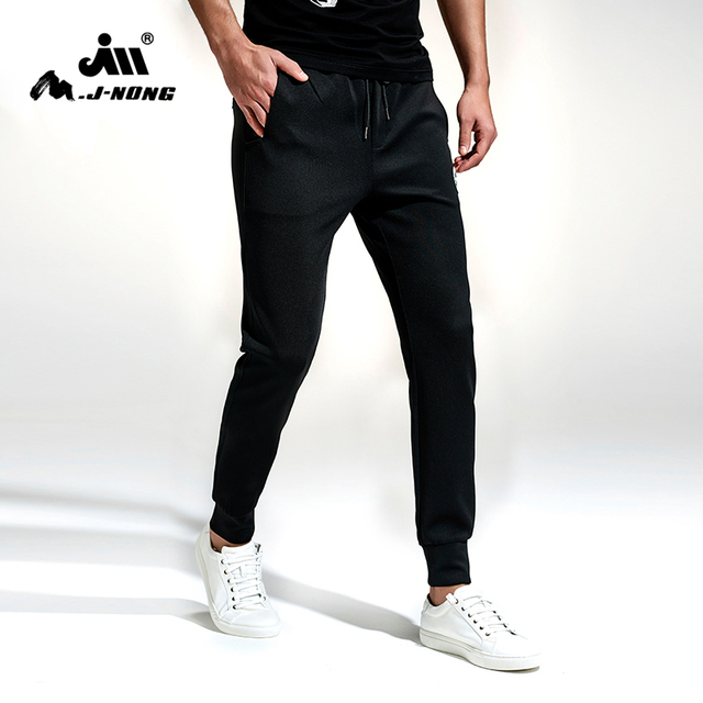 93673e9f Mjnong Brand Men's Pants Men Tracksuit Bottoms Fitness Skinny Joggers Sweat  Pants Black Casual Pants