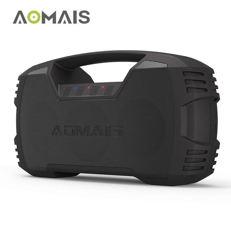 AOMAIS пойти на открытом воздухе Bluetooth Динамик s 30 W с громким бас IPX7 Водонепроницаемый 30 часов непрерывной работы с 8800 mAh Батарея Портативная ко...