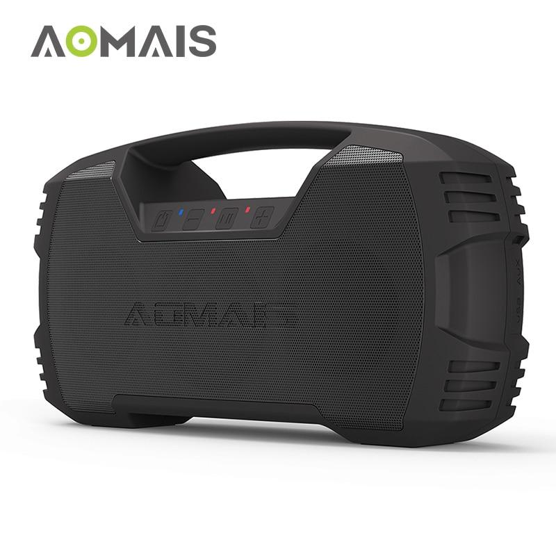 AOMAIS Aller En Plein Air Bluetooth Haut-parleurs 30 w Fort Basse Stéréo Appariement En Plein Essor IPX7 Étanche 30 Heures de Lecture avec 8800 mah batterie