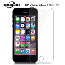 10Pcs/Lot For iphone 5 Tempered Glass for iphone 5C Screen Protector for iphone 5s SE Glass 9H 2.5D 0.26mm Tough Screen Film