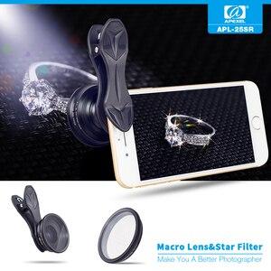 Image 3 - APEXEL 2in1 נייד טלפון עדשת 25mm 20x סופר מאקרו עדשה עם כוכב מסנן נייד צילום lente עבור smartphone APL 25SR