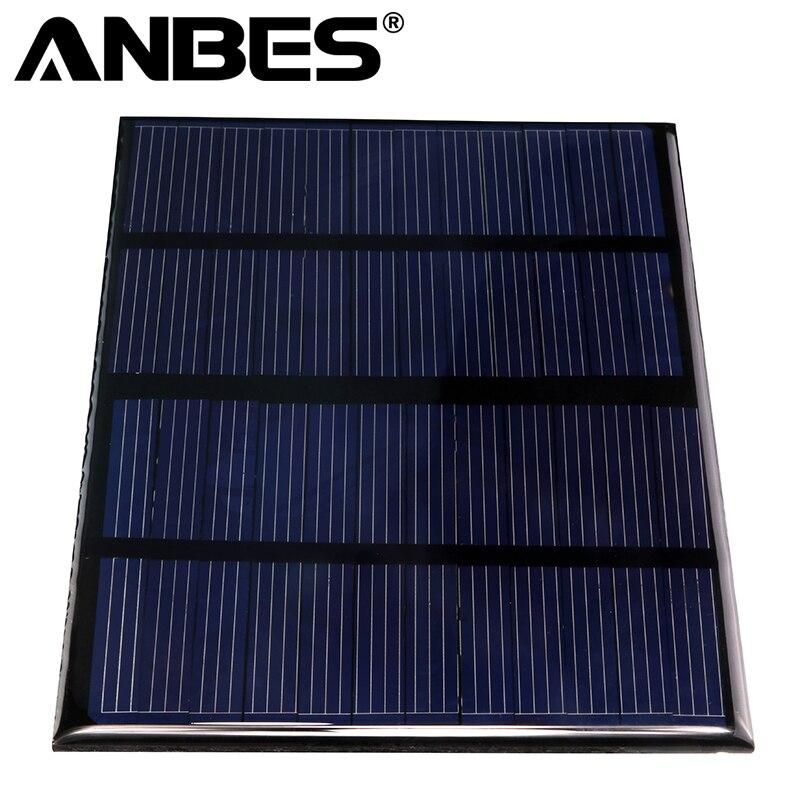 ANBES Solar Panel 12V 1.5W 115x85mm Epoxy Mini Solar Cells Polycrystalline Silicon Solar DIY Solar Module smokie