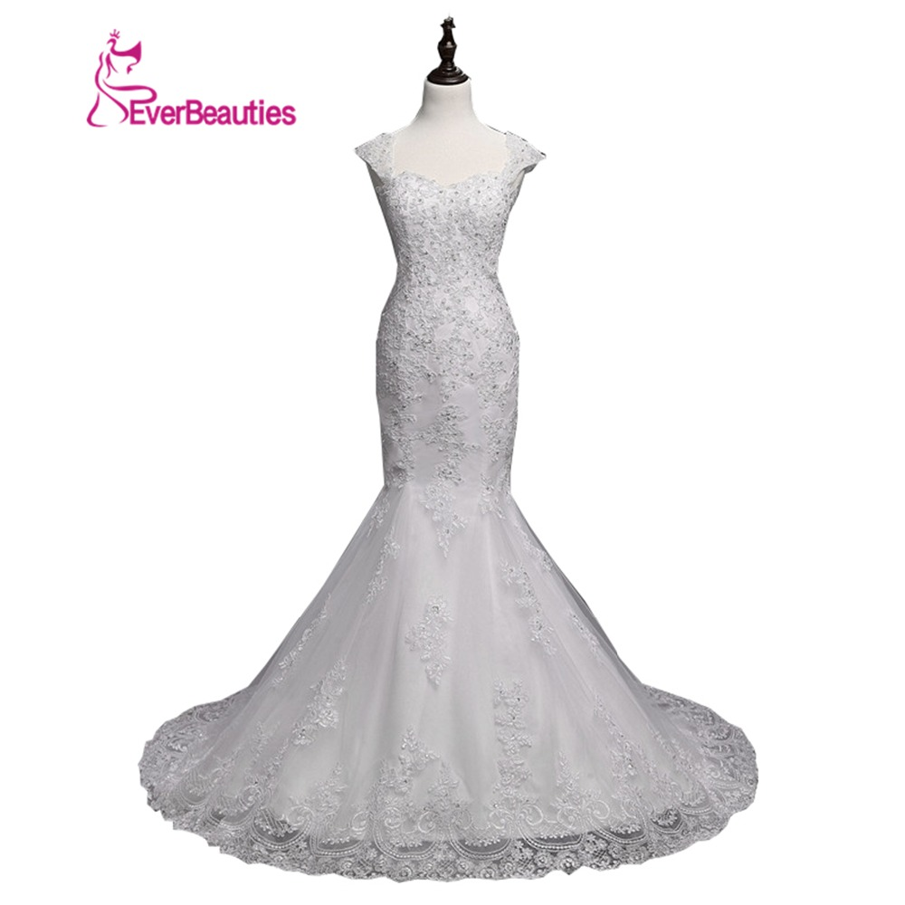 Wedding Dresses Mermaid Appliques Beaded Crystal Heavily Princess Bridal Gown Custom Made Vetsidos De Noiva Casamento