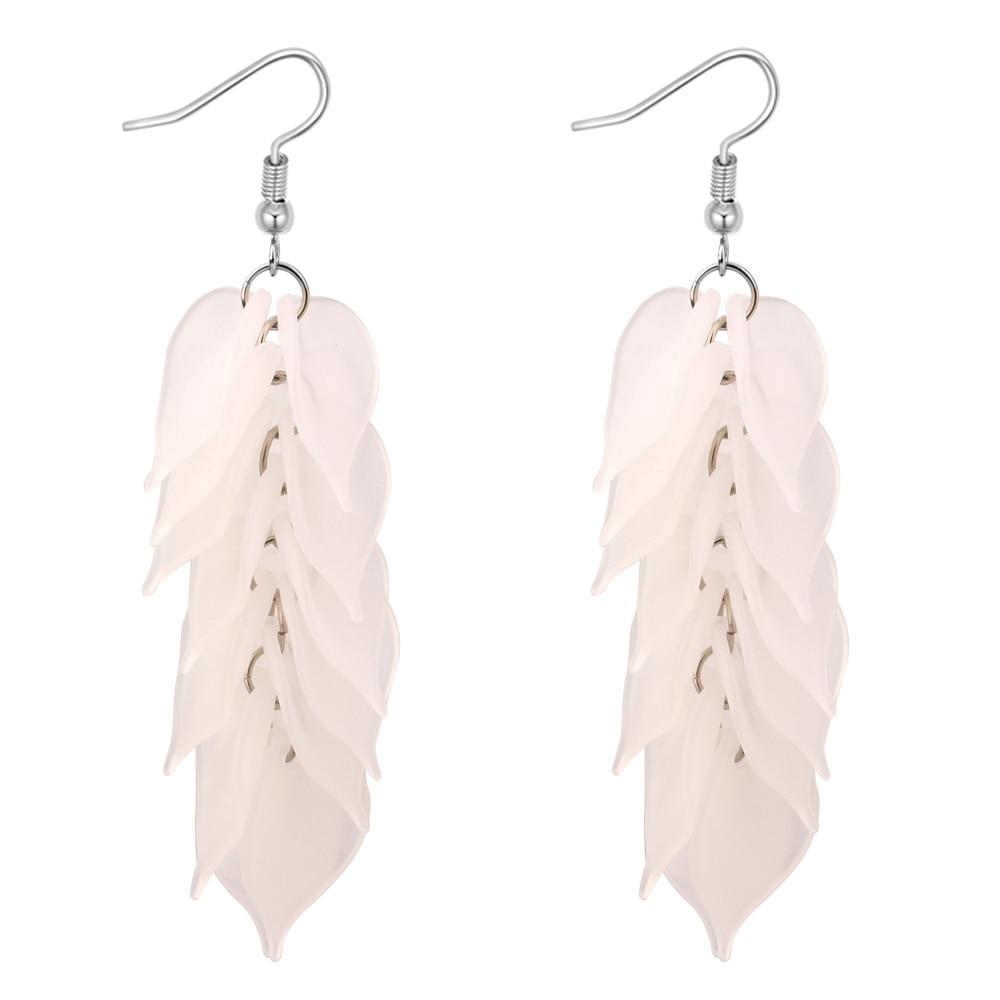 Acrylic Petal Flower Jewelry Women Hanging Drop Earrings Girls