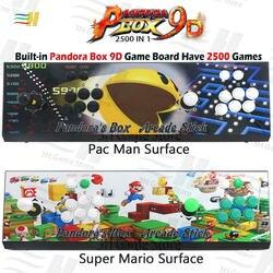 Ingebouwde Pandora box 9d 2500 in 1 arcade game console ondersteuning 3P 4P game usb kan verbinden gamepad Plug en play ondersteuning 3d game