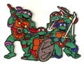 5 pcs/set Teenage Mutant Ninja Turtles Embroidered Iron On Patches For Clothes Garment Applique DIY Accessory