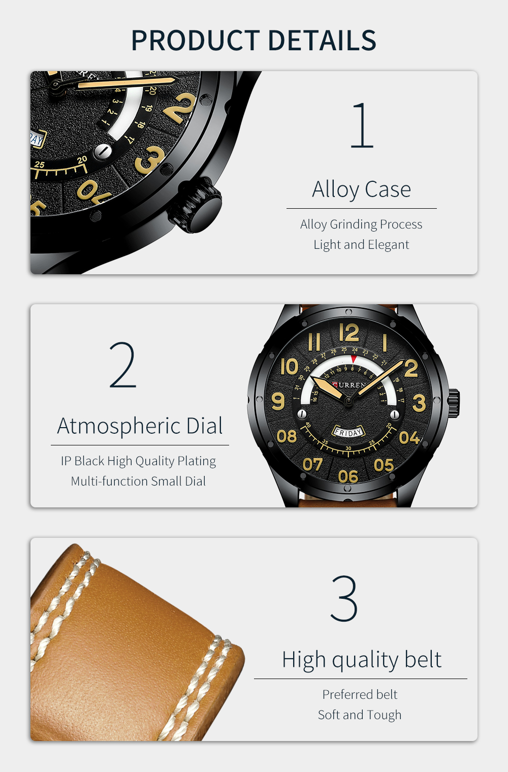 HTB1guNqaqL7gK0jSZFBq6xZZpXa3 CURREN Date Mens Watches Luxury Sport Watch