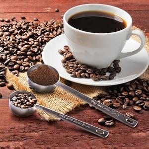 Image 5 - ملعقة للقهوة 15 مللي 30 مللي الفولاذ المقاوم للصدأ القهوة ملعقة طويلة المعادن السكر شاي مسحوق مغرفة المطبخ قياس ملعقة مستلزمات قهوة