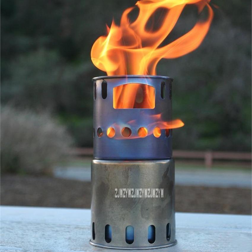 где купить STV-11 Firewood Stove Ultra-light Outdoor Portable Stove Titanium Backpacking Wood Burning Stove+Well Subrack (Stainless Steel) по лучшей цене