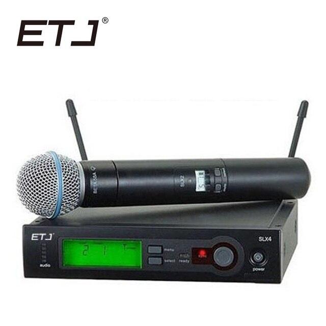Top Qualità SLX SLX24 BETA58/SM58 UHF Professionale Microfono Senza Fili Sistema di Super Cardioide BETA Palmare Microfone Microfono
