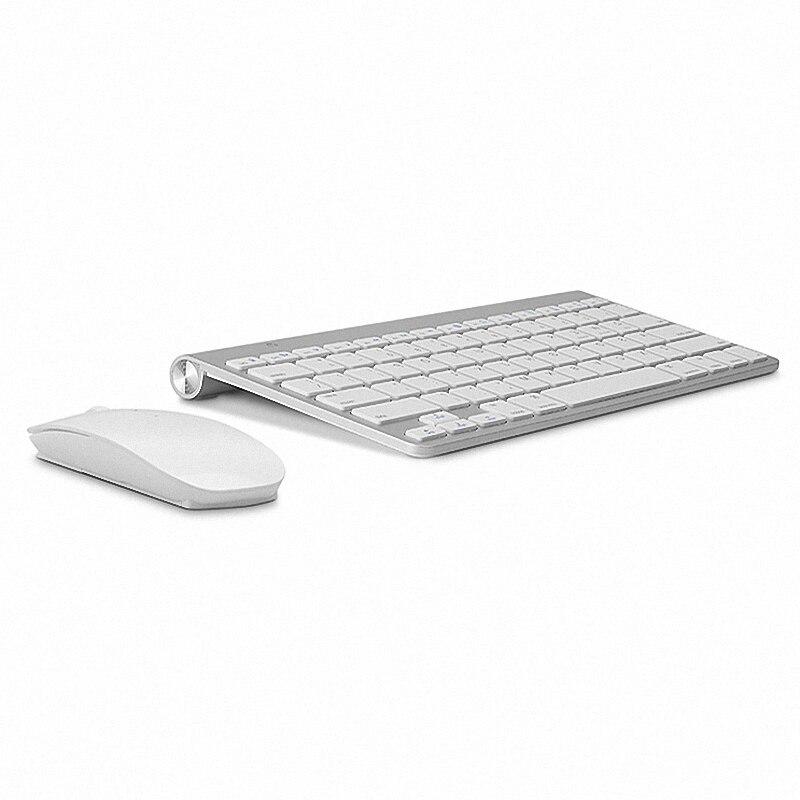 Teclado ruso ultrafino teclado inalámbrico ratón Combo 2,4g ratón inalámbrico para Apple teclado estilo Mac Win XP/7/8/10 Tv Box