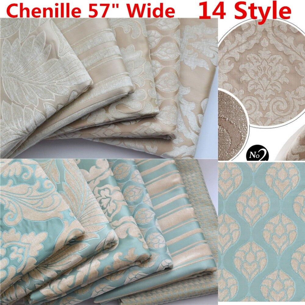 Velvet Chenille Fabric Sofa: Luxury Chenille Velvet Upholstery Curtain Fabric Cream