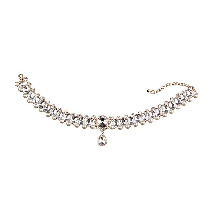 HTB1guOPMVXXXXbnXpXXq6xXFXXXA Luxurious Pearls And Crystals Statement Choker Collar Necklace With Pendant Charm - 8 Styles