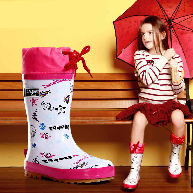 Free shipping Kids Rain Boots Girl children Overshoes Flat Water Shoes Rubber Student Shoes Outdoor Waterproof girl Rainboots стоимость
