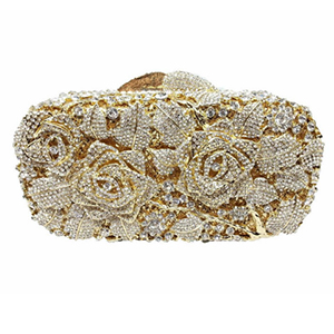 Woman Evening bag Women Diamond Rhinestone Clutch Crystal Day Clutch Wallet Wedding Purse Party Banquet Gold Silver gold woman evening bag women diamond rhinestone clutch crystal chain shoulder small purse gold wedding purse party evening bags page 3