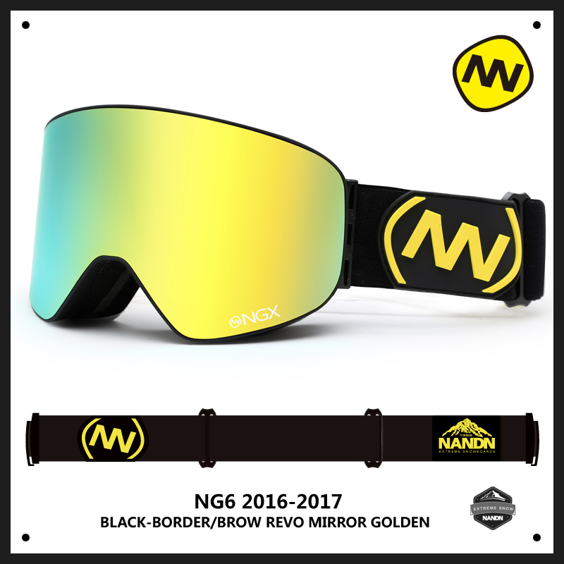 Prix pour NANDN NG6 Hommes Femmes Professionnel Ski Lunettes Anti Brouillard À Double Lentille Ski Snowboard Neige Motocross Lunettes Lunettes 10 Couleurs