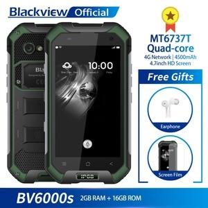 Image 1 - البلاكفيو BV6000S IP68 مقاوم للماء MT6737T رباعية النواة أندرويد 7.0 2GB RAM 16GB ROM 4.7 بوصة الهاتف الذكي 8.0MP كاميرا 4500mAh بطارية