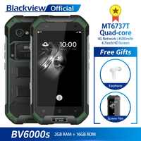 Blackview BV6000S IP68 étanche MT6737T Quad-core Android 7.0 2GB RAM 16GB ROM 4.7 pouces Smartphone 8.0MP caméra 4500mAh batterie