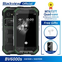 Blackview BV6000S IP68 Водонепроницаемый MT6737T четырехъядерный Android 7,0 2 ГБ Оперативная память 16 ГБ Встроенная память 4,7 дюймовый смартфон 8.0MP камера 4500 мАч Батарея