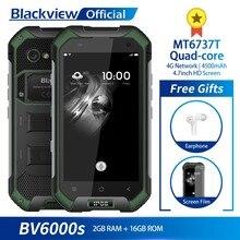 Blackview BV6000S IP68 Su Geçirmez MT6737T Quad-core Android 7.0 2 GB RAM 16 GB ROM 4.7 inç Smartphone 8.0MP kamera 4500 mAh Pil