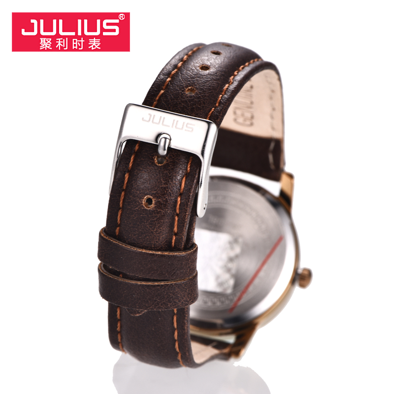 Image 4 - Top Julius Women's Watch Japan Quartz Hours Auto Date Fine Fashion Woman Clock Real Leather Strap Girl's Retro Birthday Gift Box-in Women's Watches from Watches