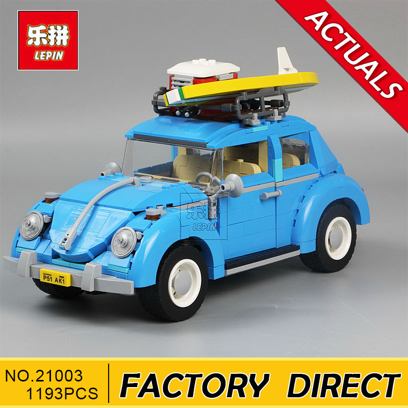 Lepin 21003 Series City Car Classical Travel Car model Building Blocks Bricks Compatible Technic Car Educational Toy 10252 lepin 21003 series city car beetle model building blocks blue technic children lepins toys gift clone 10252