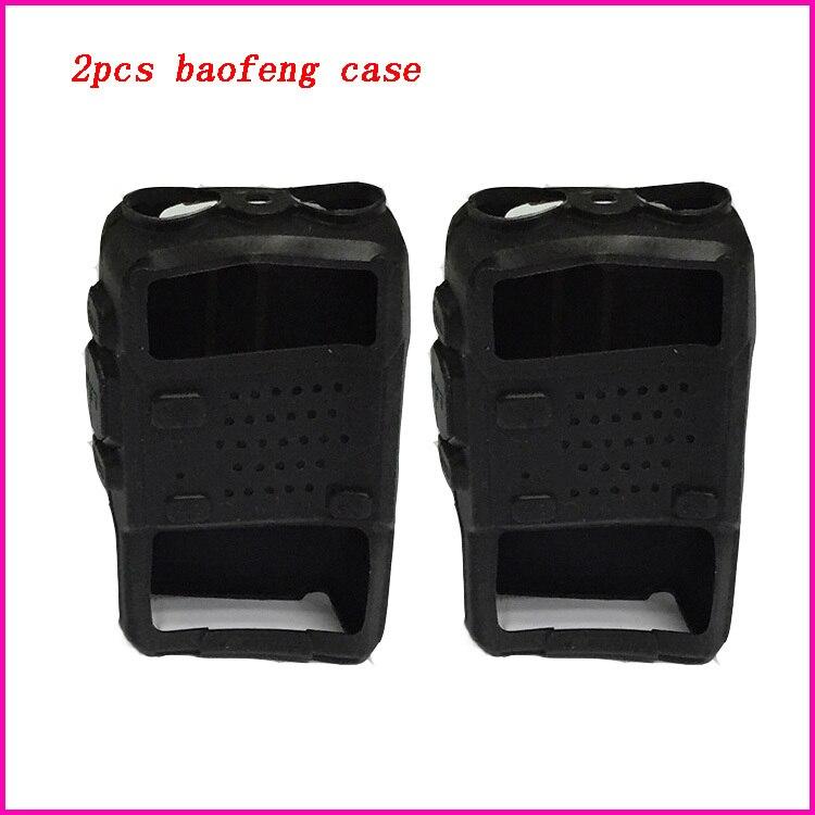 imágenes para 2 unids cinco colores baofeng caso de la cubierta de goma de silicona suave para uv-5r 5re portátil cb radio walkie talkie baofeng uv 5r accesorios