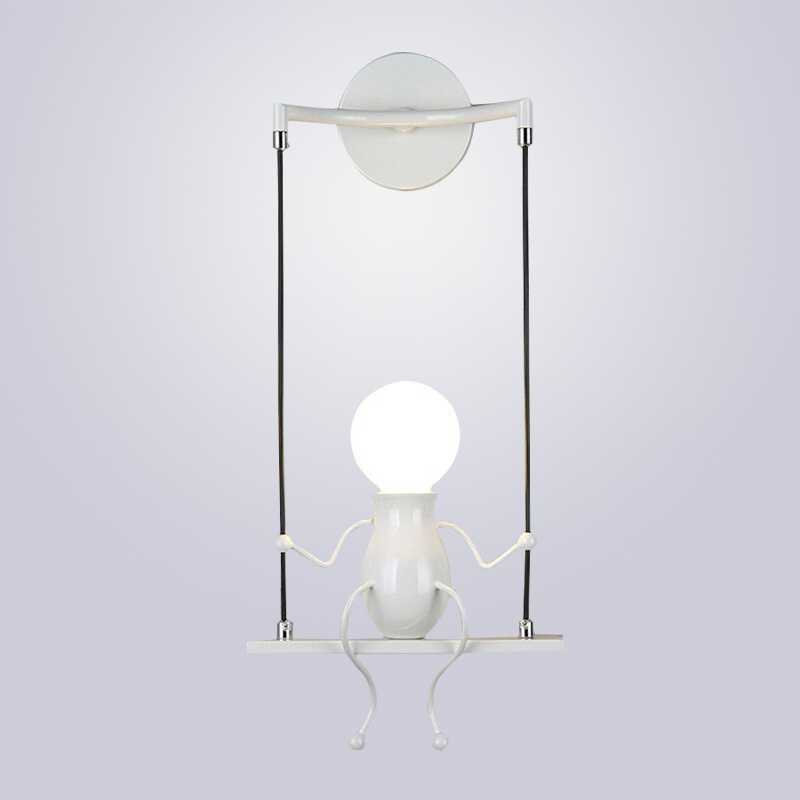 Us 38 51 40 Off Led Wall Light Fixtures Creative Double Little People Mini Sconces Lighting Bedside Lamp Children Indoor Lamps In Holiday