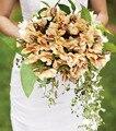 Künstliche Blume Seide Blume Bouquet Rosebush Hochzeit Blume Rose Braut Mit Blumen Blumen Wand Dekoration-in Künstliche & getrockneten Blumen aus Heim und Garten bei