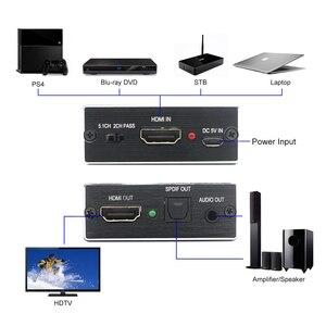 Image 4 - AIXXCO HDMI Audio extractor HDMI met Optische TOSLINK SPDIF + 3.5mm Stereo Audio Extractor Converter HDMI Audio Splitter